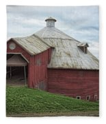 Round Barn - Mansonville, Quebec Fleece Blanket