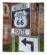 Route 66 - Kansas #1 Fleece Blanket