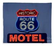 Route 66 Motel Fleece Blanket