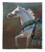 Royal Blue Fleece Blanket by Melinda Hughes-Berland