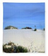Rrippled Sand Dunes In White Sands National Monument, New Mexico - Newm500 00111 Fleece Blanket
