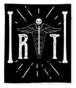 Rt Radiology Bones Medicine Radiologist Nurse Fleece Blanket