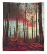 Ruby Red Evening Fleece Blanket