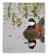 Ruddy Duck, Plumas County California Fleece Blanket