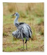 Ruffled Crane Fleece Blanket