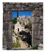 Ruins In Kotor, Montenegro Fleece Blanket