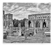 Ruins Of A Cathedral, Elgin Cathedral Fleece Blanket