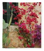 Rustic Life - Flowers Fleece Blanket
