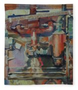 Rusty Engine  Fleece Blanket