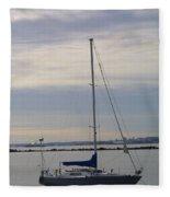 Sailboat In The Bay Area Fleece Blanket