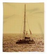 Sailing In The Sunlight Fleece Blanket