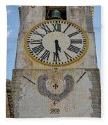 Saint Mary Church Clock Tower In Tavira. Portugal Fleece Blanket