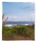 Salty Island Breeze Over Breach Inlet Fleece Blanket