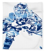 Salvador Perez Kansas City Royals Pixel Art 1 Fleece Blanket