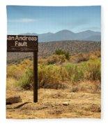 San Andreas Fault Fleece Blanket