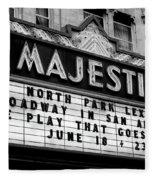 San Antonio Majestic Theatre Fleece Blanket