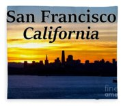 San Francisco Sunrise 2x3 Fleece Blanket