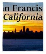 San Francisco Sunrise 2x3 Fleece Blanket