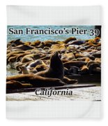 San Francisco's Pier 39 Walruses 1 Fleece Blanket