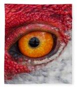 Sandhill Crane Eye Fleece Blanket