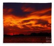 Fire In The Sandusky Sky Fleece Blanket