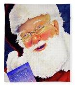 Santa Knows Fleece Blanket