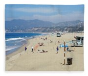 Santa Monica Beach Fleece Blanket
