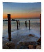 Santa Monica Sunrise Fleece Blanket