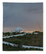 Santuario De Nossa Senhora Da Piedade Welcoming Twilight In Loule Fleece Blanket