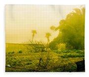 Sapa Landscape, Vietnam Fleece Blanket