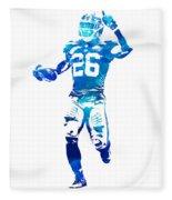 Saquon Barkley New York Giants Water Color Pixel Art 10 Fleece Blanket