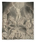Satan Calling Up His Legions Fleece Blanket