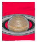 Saturnian Image 2 Fleece Blanket