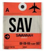 Sav Savannah Luggage Tag I Fleece Blanket