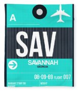 Sav Savannah Luggage Tag II Fleece Blanket