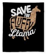 Save The Fluffy Llama Fleece Blanket