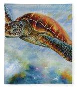 Save The Turtles Fleece Blanket