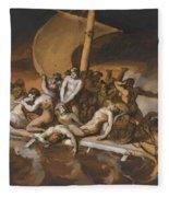 Scene Of Cannibalism For The Raft Of The Medusa Fleece Blanket