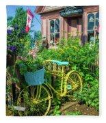 Scenic Garden And Antiques Store Fleece Blanket