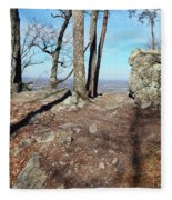 Scenic Horizon View Fleece Blanket