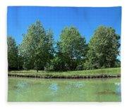 Scenic View Of Burgundy Canal Fleece Blanket