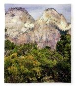 Scenic Zion - Mount Carmel Highway Drive 4 Fleece Blanket