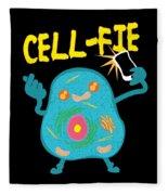 Science Nerd Shirt Cellfie Dad Joke Fleece Blanket
