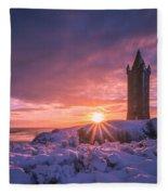 Scrabo Winter Sunrise Fleece Blanket