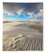 Sea Of Sand - Endless Dunes At White Sands New Mexico Fleece Blanket
