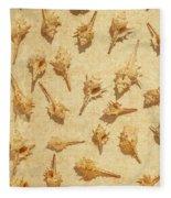 Sea Shell Scroll Fleece Blanket