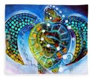 Sea Turtle Says Fleece Blanket