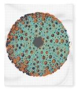 Sea Urchin Illustration Fleece Blanket by Jocelyn Friis
