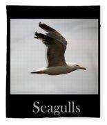 Seagulls Fleece Blanket