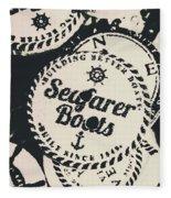 Seaside Sailors Badge Fleece Blanket
